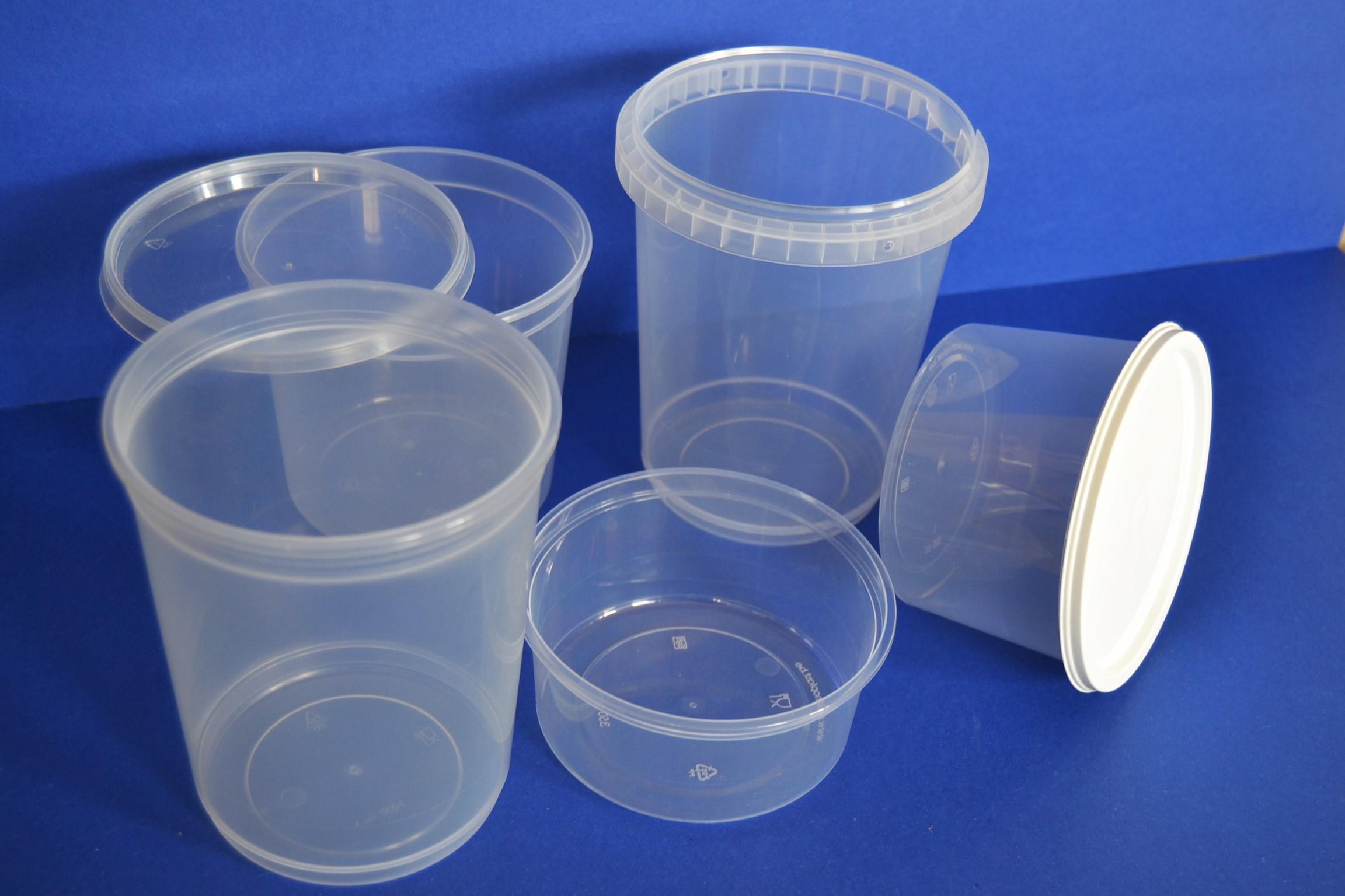 plastic potten met deksel